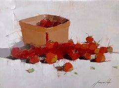 Strawberries Print on Canvas