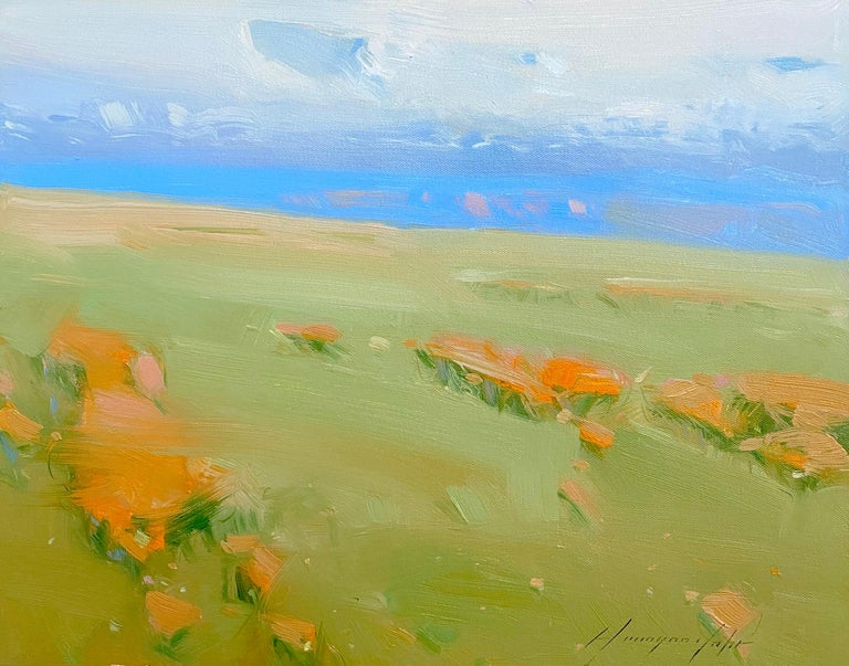 Vahe Yeremyan Landscape Painting - Summer Day, Original oil Painting, Ready to Hang