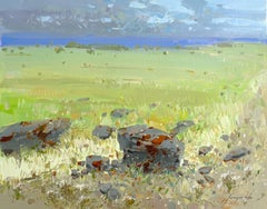 Summer Field, Original oil Painting, Ready to Hang