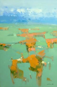 Summer Valley, Original Oil Painting, Handmade artwork