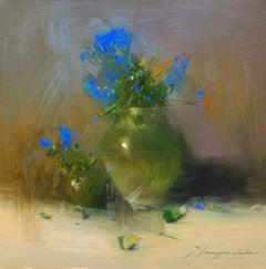 Vase of Flowers, Original Oil Painting, Handmade Artwork