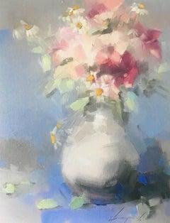 Vase of Flowers, Print on Canvas