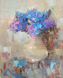 Vase of Lilacs, Original oil Painting, Ready to Hang