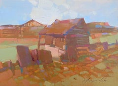 Village, Original oil Painting, Ready to Hang
