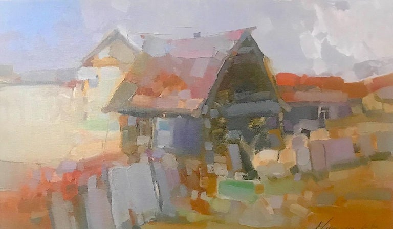 Vahe Yeremyan Landscape Painting - Village, Print on Canvas