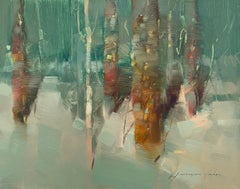 Viridian Forest, Original oil Painting, Ready to Hang
