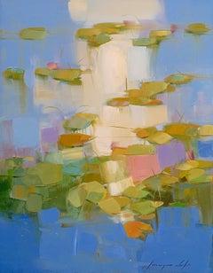 Waterlilies, Original Oil Painting, Handmade Artwork