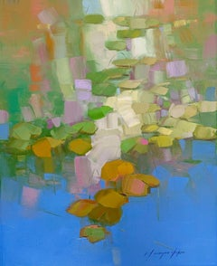 Waterlilies, Original oil Painting, Ready to Hang