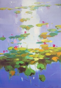 Waterlilies, Print on Canvas