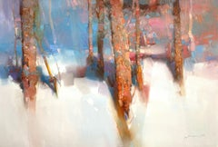 Winter Trees, Original oil Painting, Ready to Hang