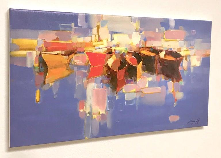 Artist: Vahe Yeremyan Work: Print on Canvas Subject: Boats,  SIZE: 14