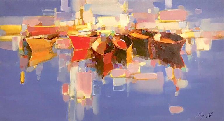 Vahe Yeremyan Landscape Print - Boats Print on Canvas