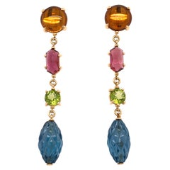 Vaid Roma Multicolored Stones Earrings