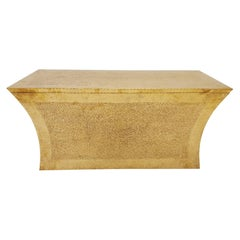 Vaisseau Bench in Brass over Teak by Paul Mathieu for Stephanie Odegard