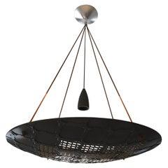 Vaisseau Round Geometric Jali Chandelier in Black Marble by Paul Mathieu