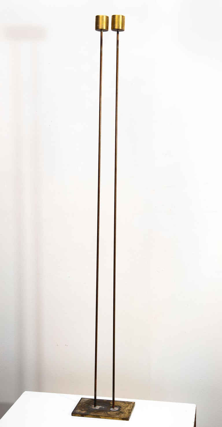"""Val Bertoia Abstract Sculpture - 2 Rods 60"""" High"""