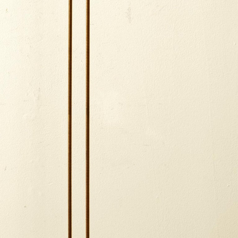2 Rods on Wooden Base - Abstract Sculpture by Val Bertoia