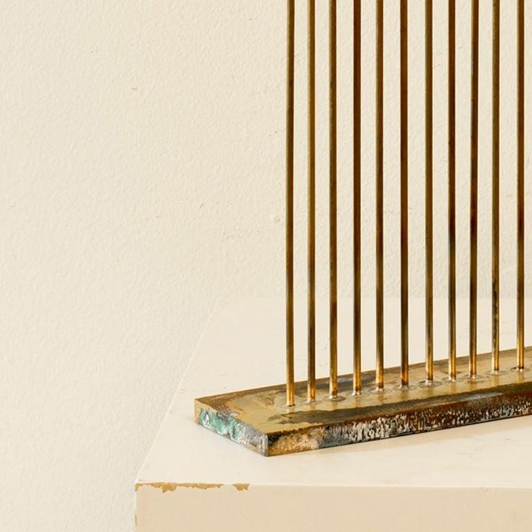 24 Cat-Tails Rods - Sculpture by Val Bertoia