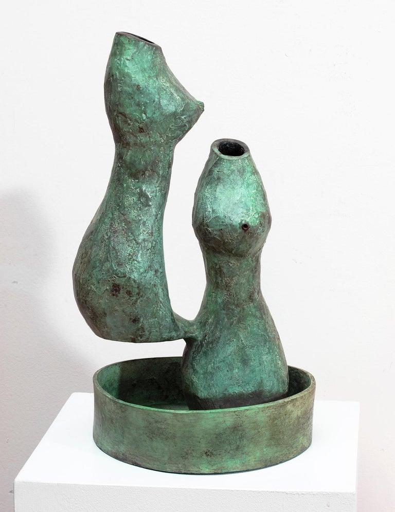 Val Bertoia Abstract Sculpture - Bronze Fountain Sculpture