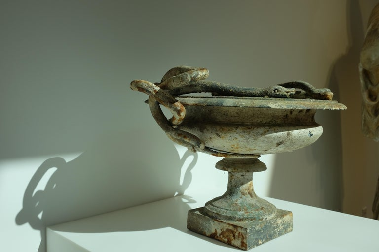 Val d'Osne Cast Iron White Snake Urns For Sale 3
