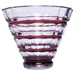 Val Saint Lambert Art Deco Cone Form Vase