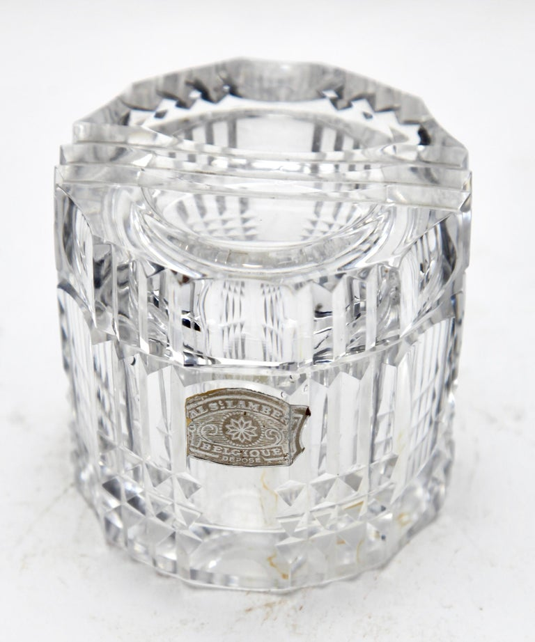 Val Saint Lambert Crystal Vase, Belgium in Excellent Condition, 1950s For Sale 4
