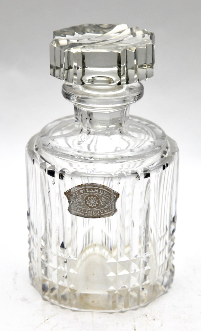 Val Saint Lambert Crystal Vase, Belgium in Excellent Condition, 1950s For Sale 6