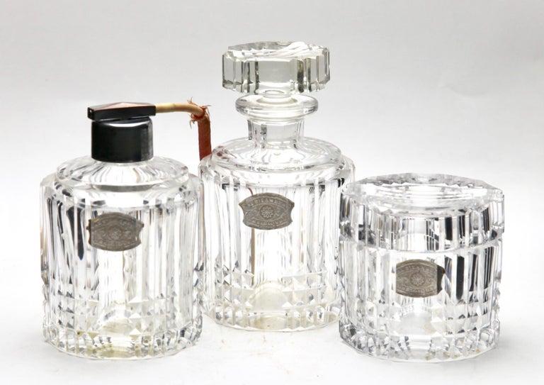 Val Saint Lambert Crystal Vase, Belgium in Excellent Condition, 1950s For Sale 9