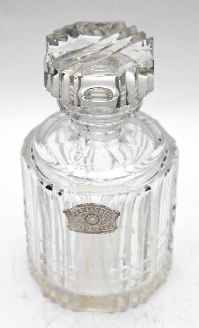 Art Deco Val Saint Lambert Crystal Vase, Belgium in Excellent Condition, 1950s For Sale