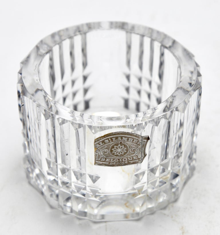 Hand-Crafted Val Saint Lambert Crystal Vase, Belgium in Excellent Condition, 1950s For Sale