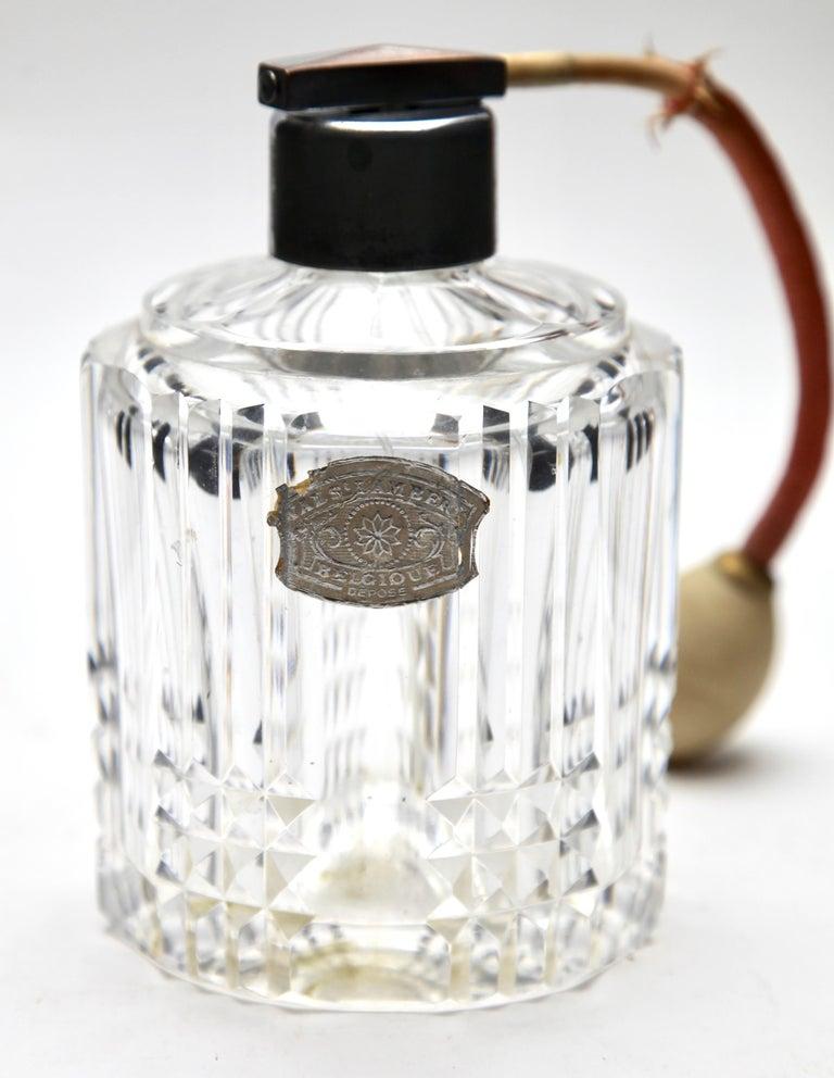 Val Saint Lambert Crystal Vase, Belgium in Excellent Condition, 1950s For Sale 2