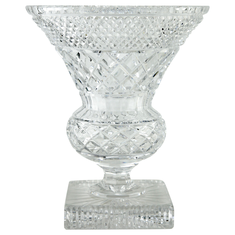 Val Saint Lambert Crystal Vase, Belgium in Excellent Condition, 1950s