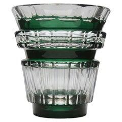 Val Saint Lambert Crystal Vase Charles Graffart Cut-to-clear 1950s