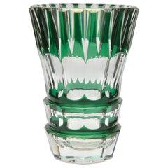 Val Saint Lambert Crystal Vase Charles Graffart Cut-to-Clear Signed, PU 'Unica'