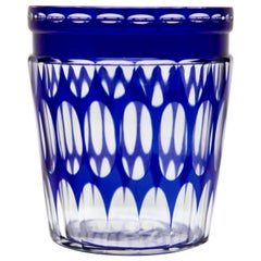 Val Saint Lambert Crystal Vase Cut to Clear, 1950s