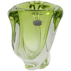 Val Saint Lambert Crystal Vase Origin, Belgium in Excellent Condition, 1950s