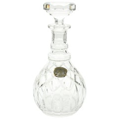 Val Saint Lambert Cut-Crystal Decanter 20th Century, Founded in 1826, Belgium