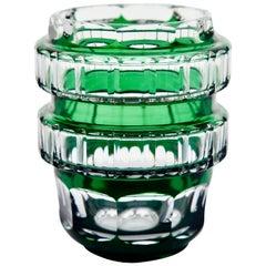 Val Saint Lambert Signed Crystal Vase Charles Graffart Cut-to-Clear, 1950s