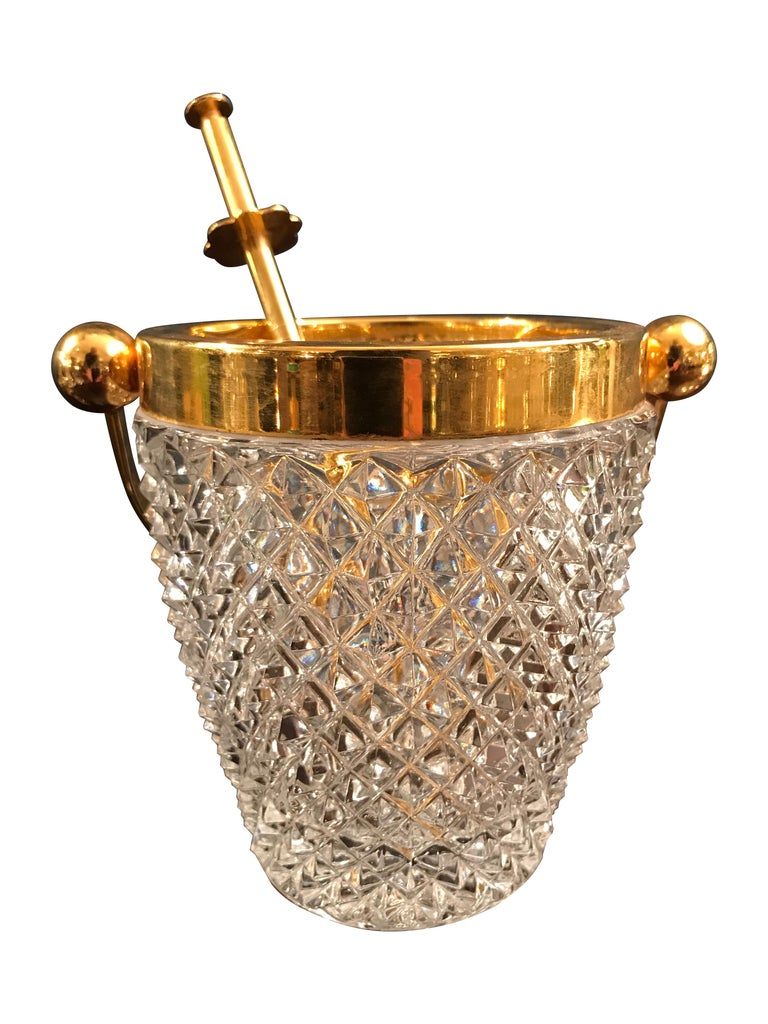 Belgian Val St Lambert Crystal Ice Bucket For Sale