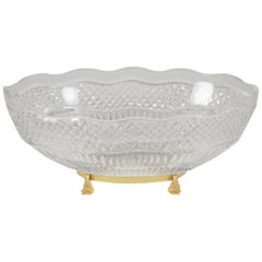 Val St. Lambert Cut Glass Centerpiece Bowl