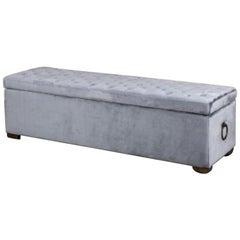 Valance Velvet Blanket Box, 20th Century