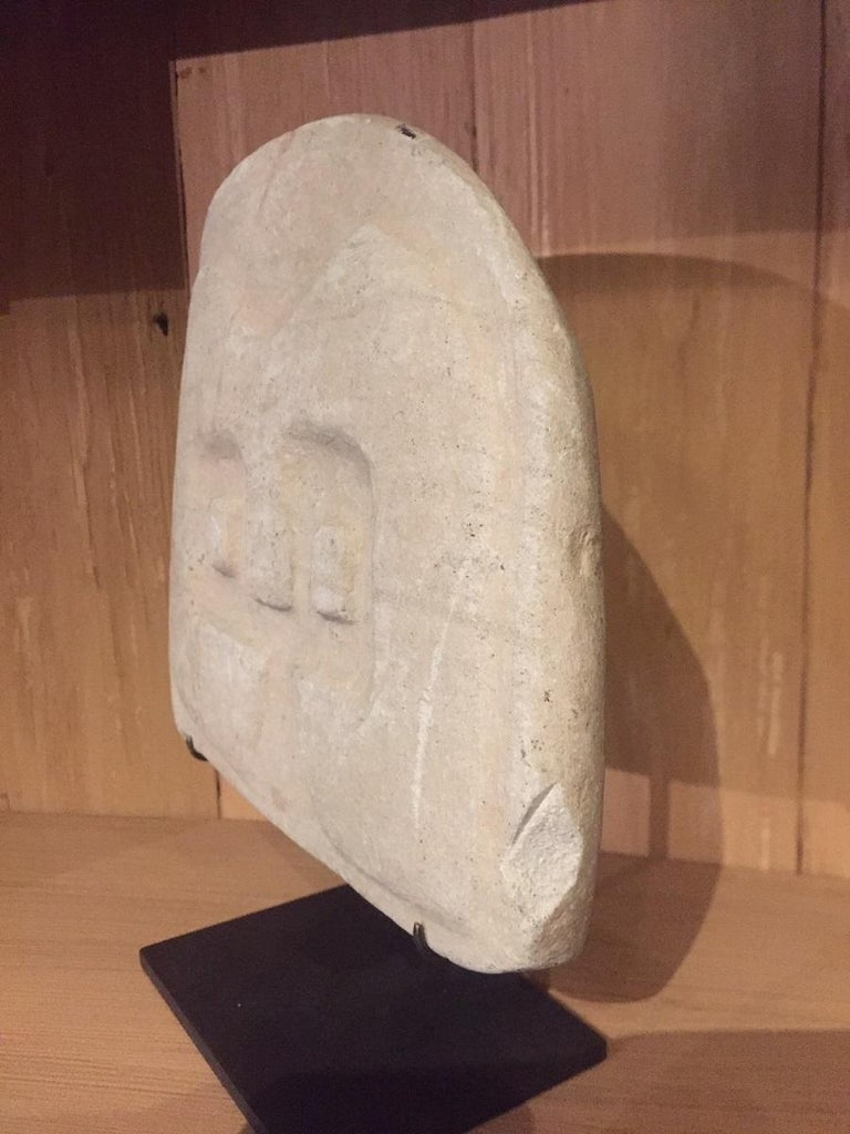 Stone Valdivian Owl Stele Sculpture For Sale