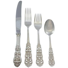 Valdres by Marthinsen Norway Sterling Silver Flatware Set Service 34 Pcs Dinner