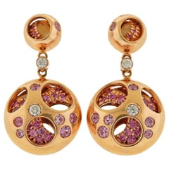 Valente Diamond Sapphire Rose Gold Earrings