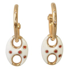 Valente Gold Hoop Earrings with Removable Pendant