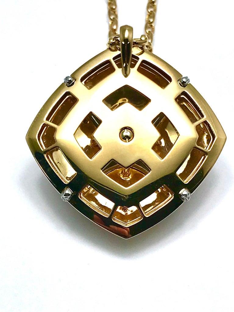 Valente Milano Rubelite Tourmaline and Pave Diamond Rose Gold Necklace For Sale 5