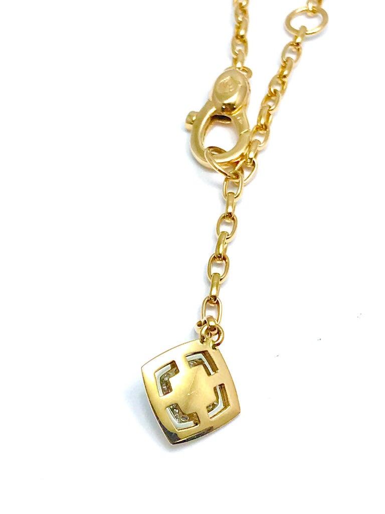 Valente Milano Rubelite Tourmaline and Pave Diamond Rose Gold Necklace For Sale 6