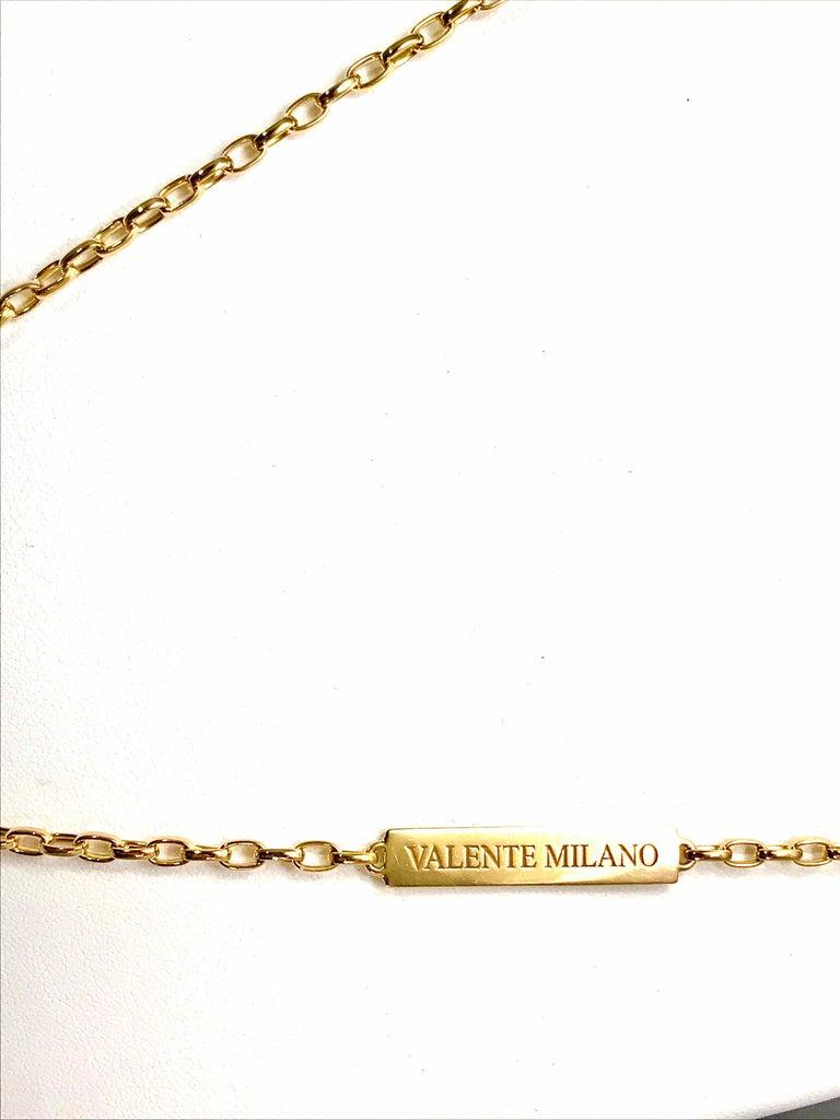 Modern Valente Milano Rubelite Tourmaline and Pave Diamond Rose Gold Necklace For Sale