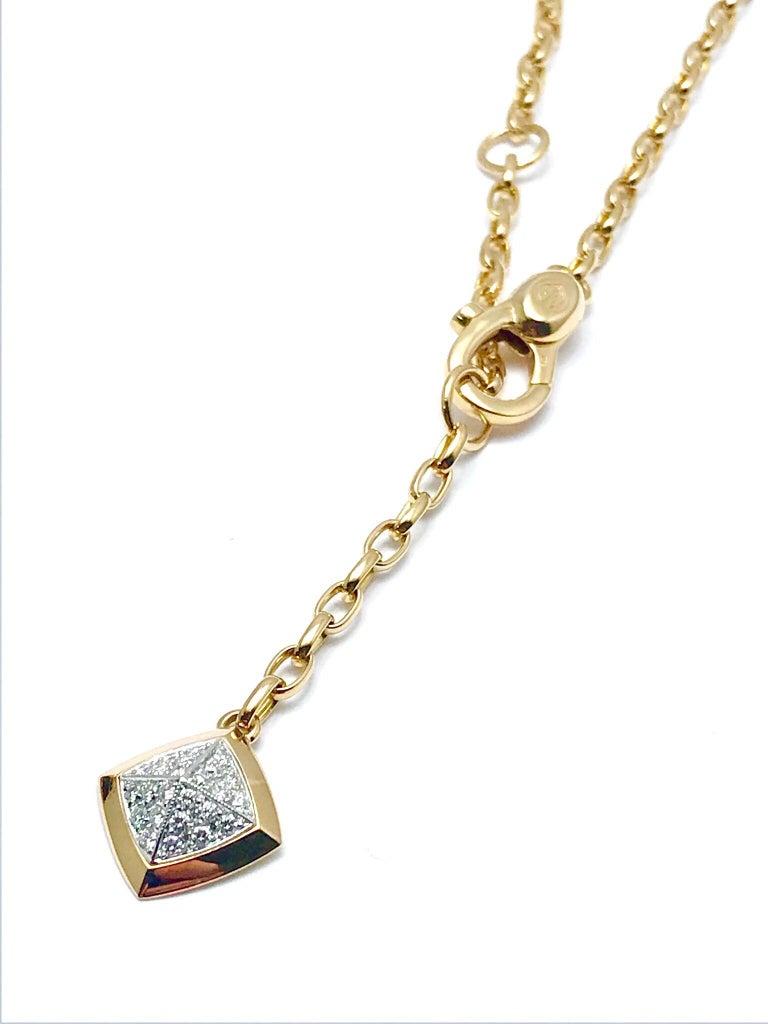 Valente Milano Rubelite Tourmaline and Pave Diamond Rose Gold Necklace For Sale 2