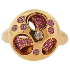 Valente Pink Sapphire Diamond Rose Gold Ring